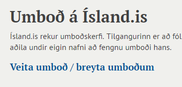 Ísland.is logo